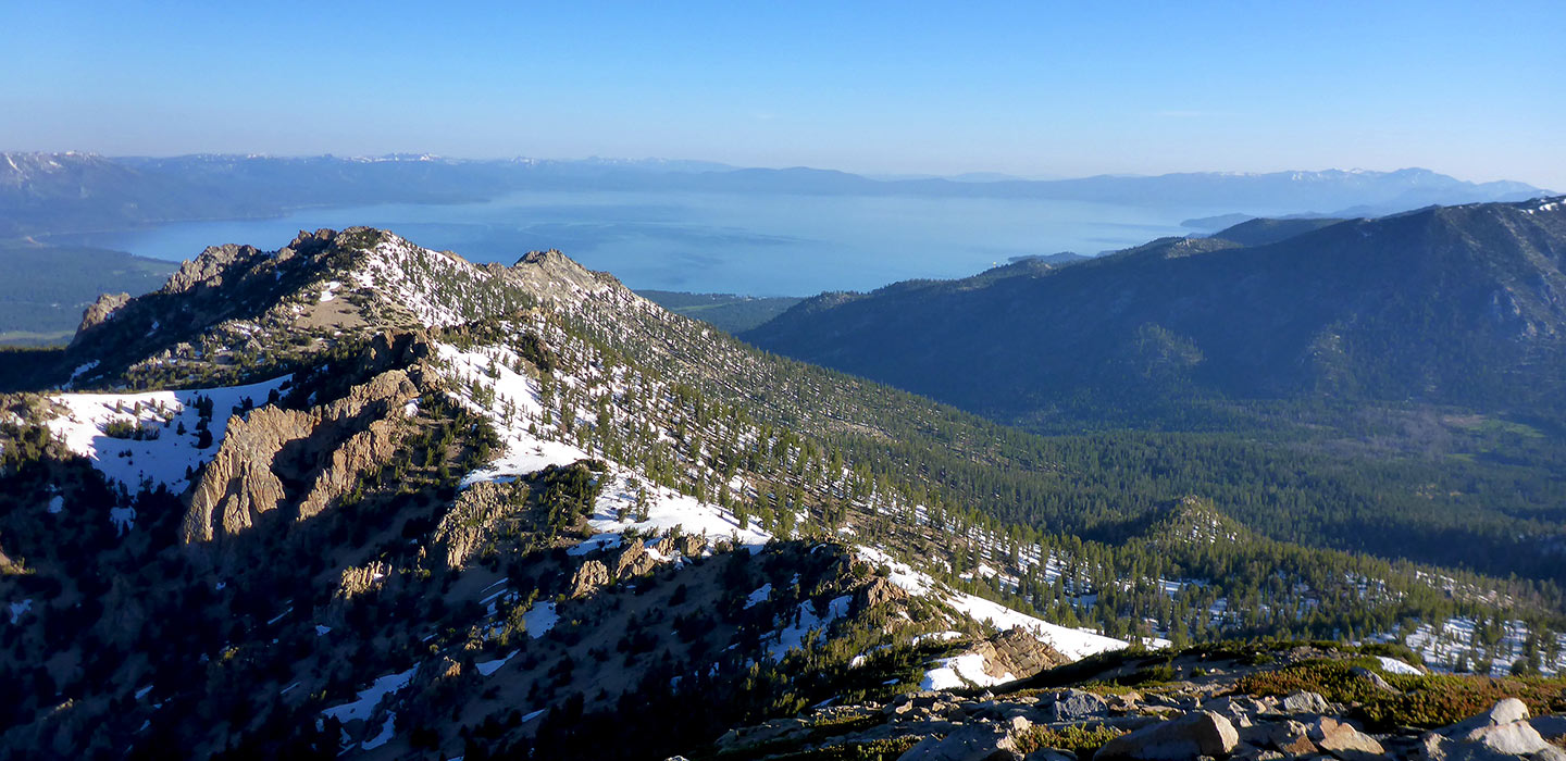Trimmer Peak and Lake Tahoe