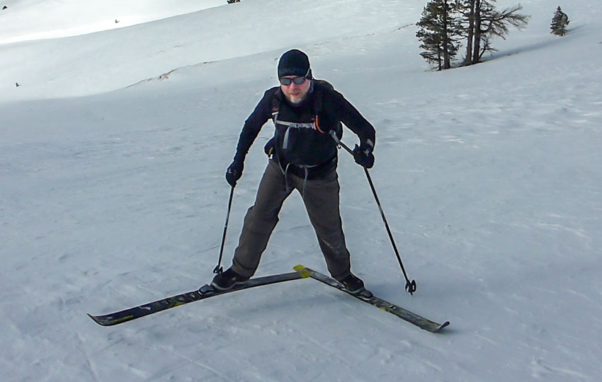 Backcountry Cross-Country Skiing Technique: Side-Step and Herringbone Technique